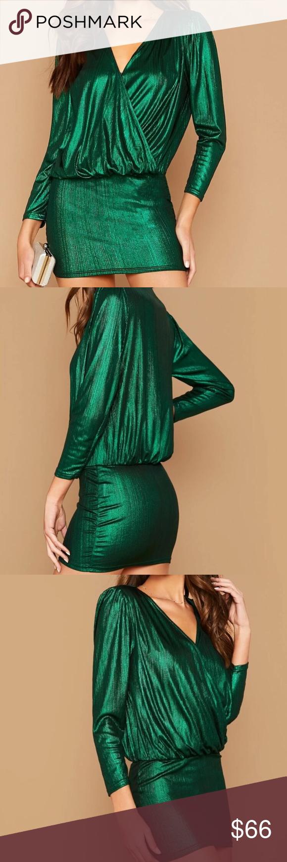 Metallic Dress X M As Green Holiday Womens Dresses Metallic Dress Dresses [ 1740 x 580 Pixel ]