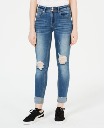 130f29dd3 Indigo Rein Juniors' Ripped & Cuffed Skinny Jeans in 2019 | Products ...