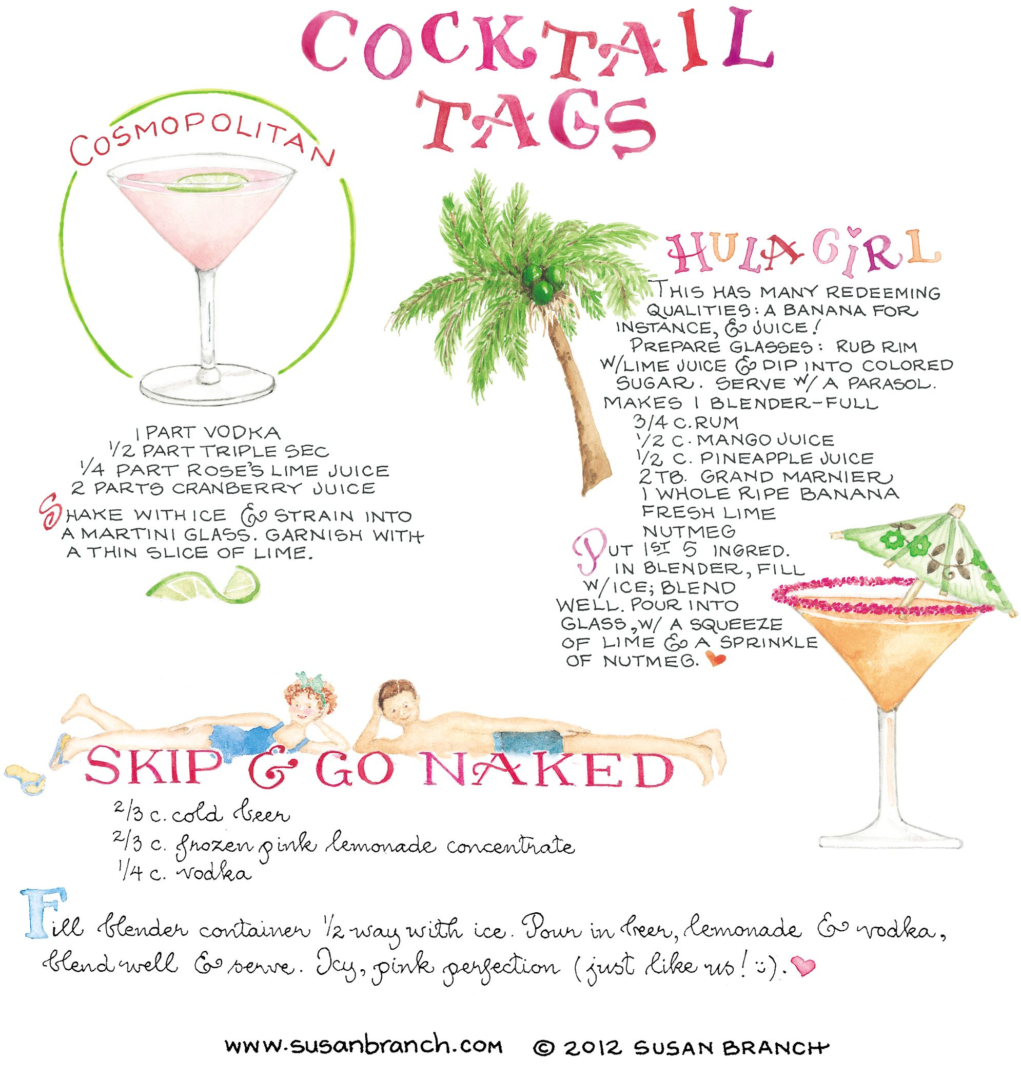 drink recipes | cocktail recipes | Susan Branch Blog | Hostin\' HAPPY ...