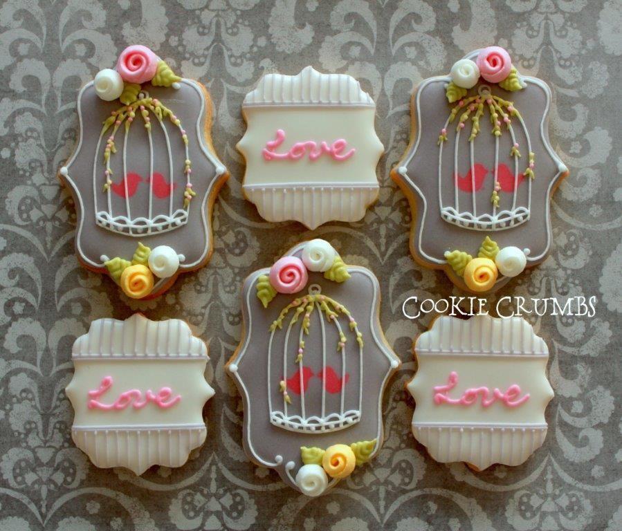 Día de San Valentín de la placa Galletas