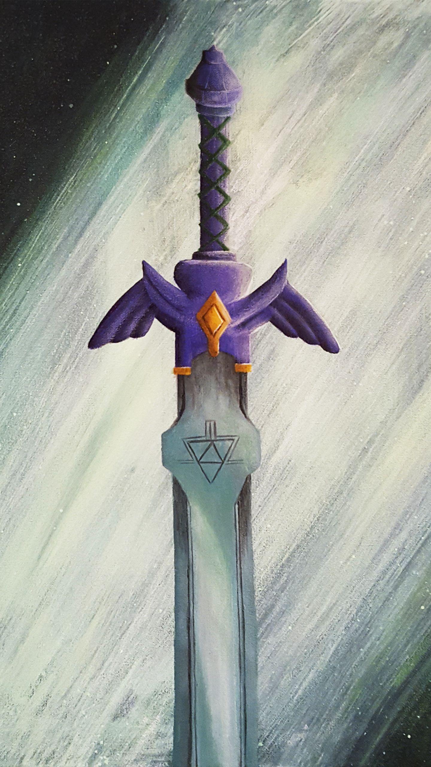 The Master Sword Awaits Mobile Wallpaper