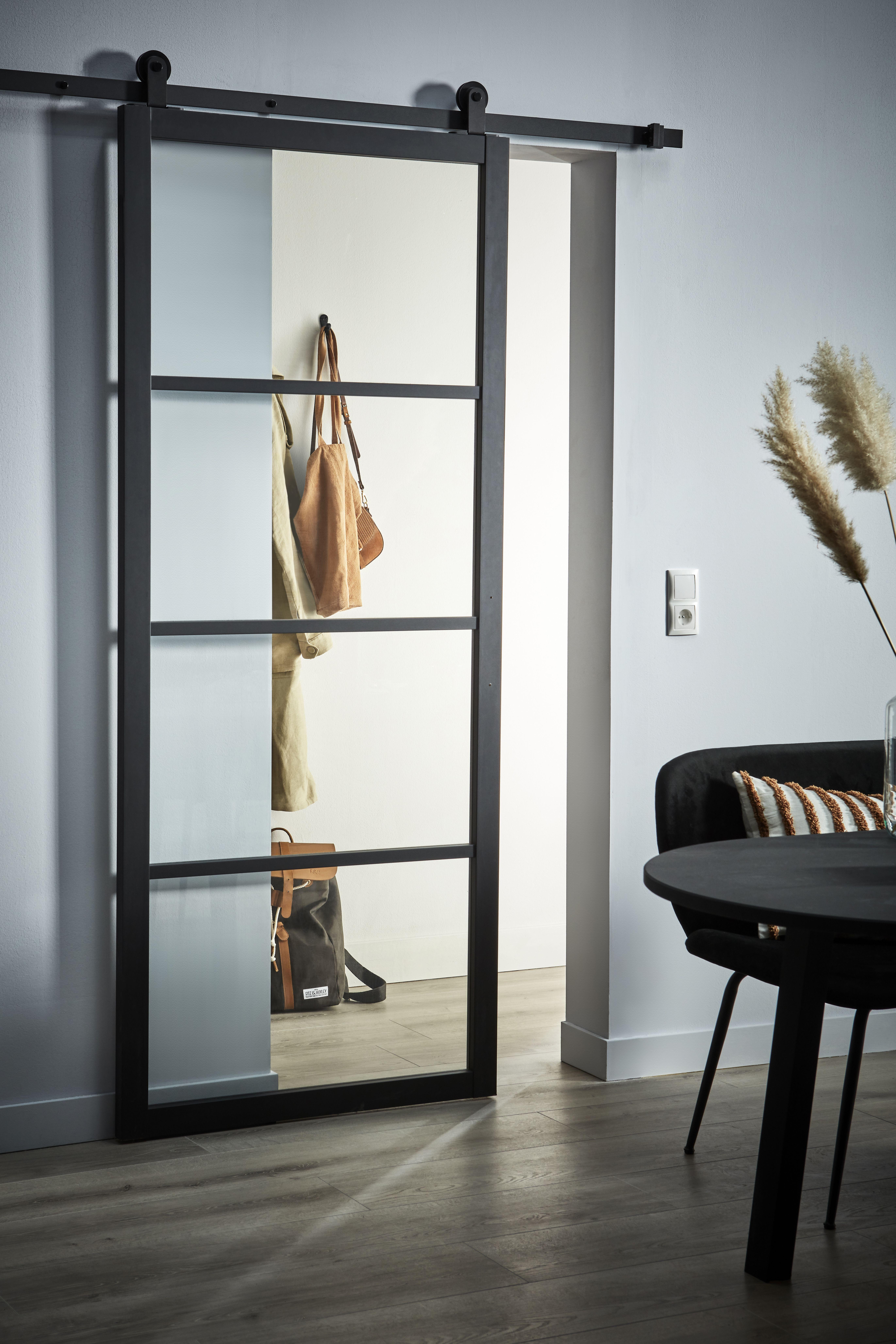 KARWEI | Black industrial steel door Warm and born …