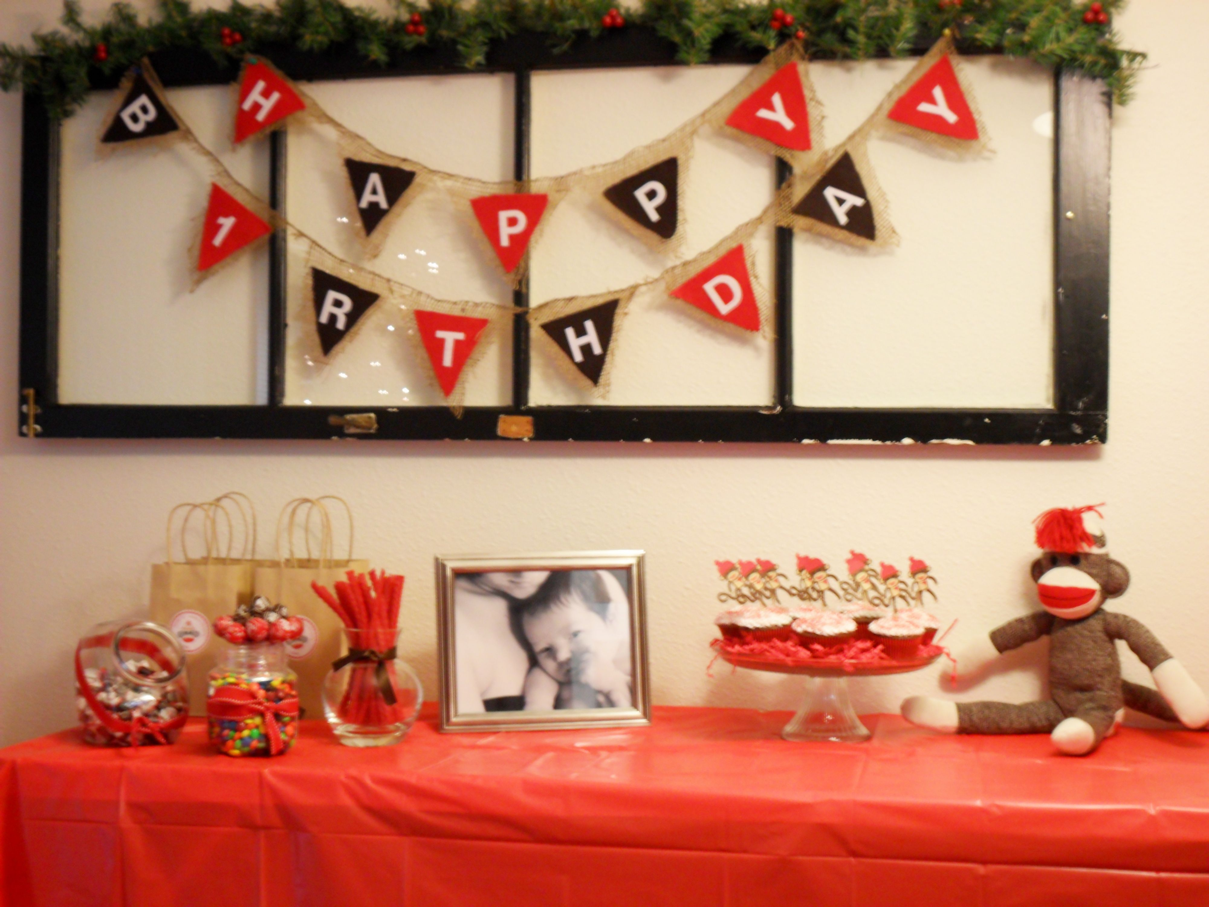 Sock Monkey Party My Sons Birthday Is November 30Th So