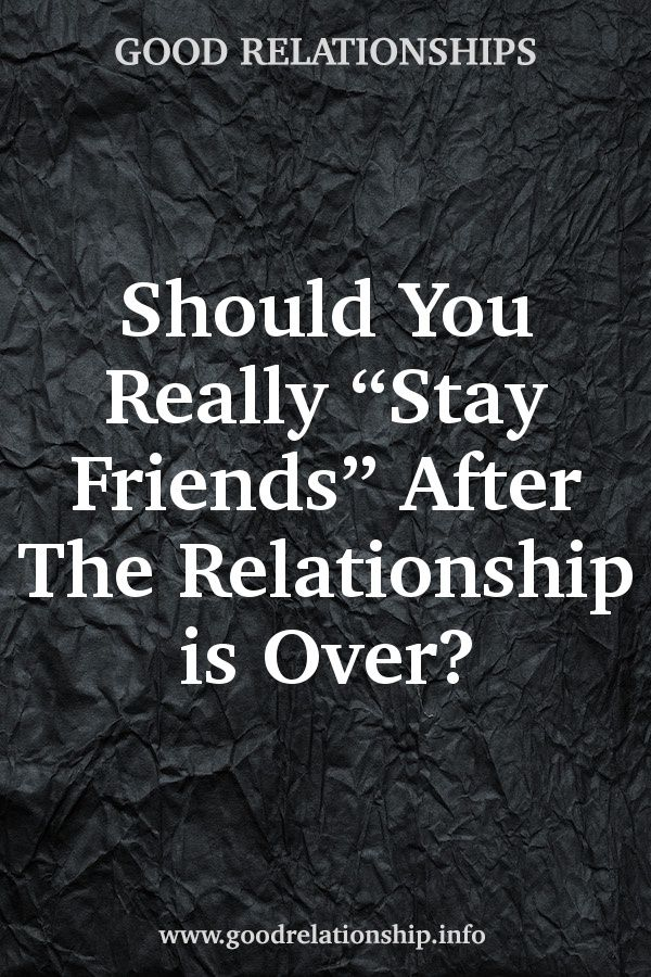 Is it possible to be friends after dating