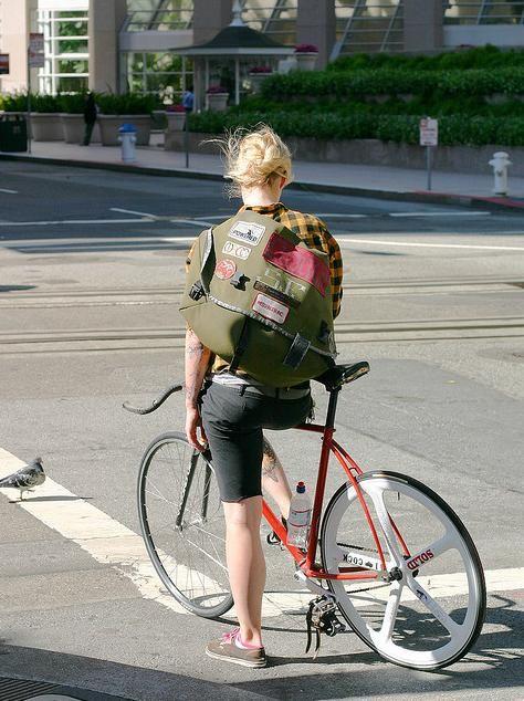 Fixed gear bike.