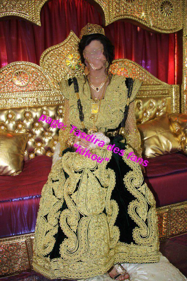 """Gandoura, robe traditionnelle de Annaba brodée de """"fetla ..."""