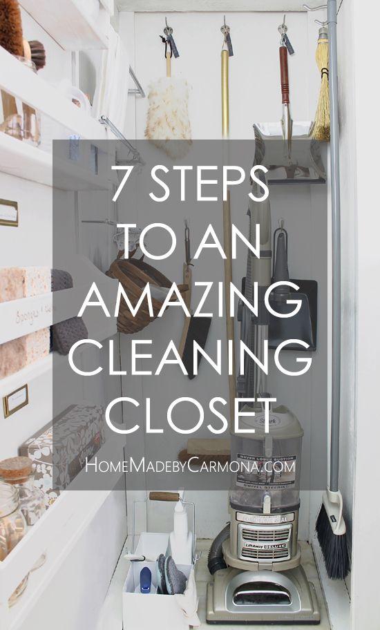A Gorgeous Effective Cleaning Closet Home Made By Carmona Cleaning Closet Cleaning Closet Organization Broom Closet Organizer