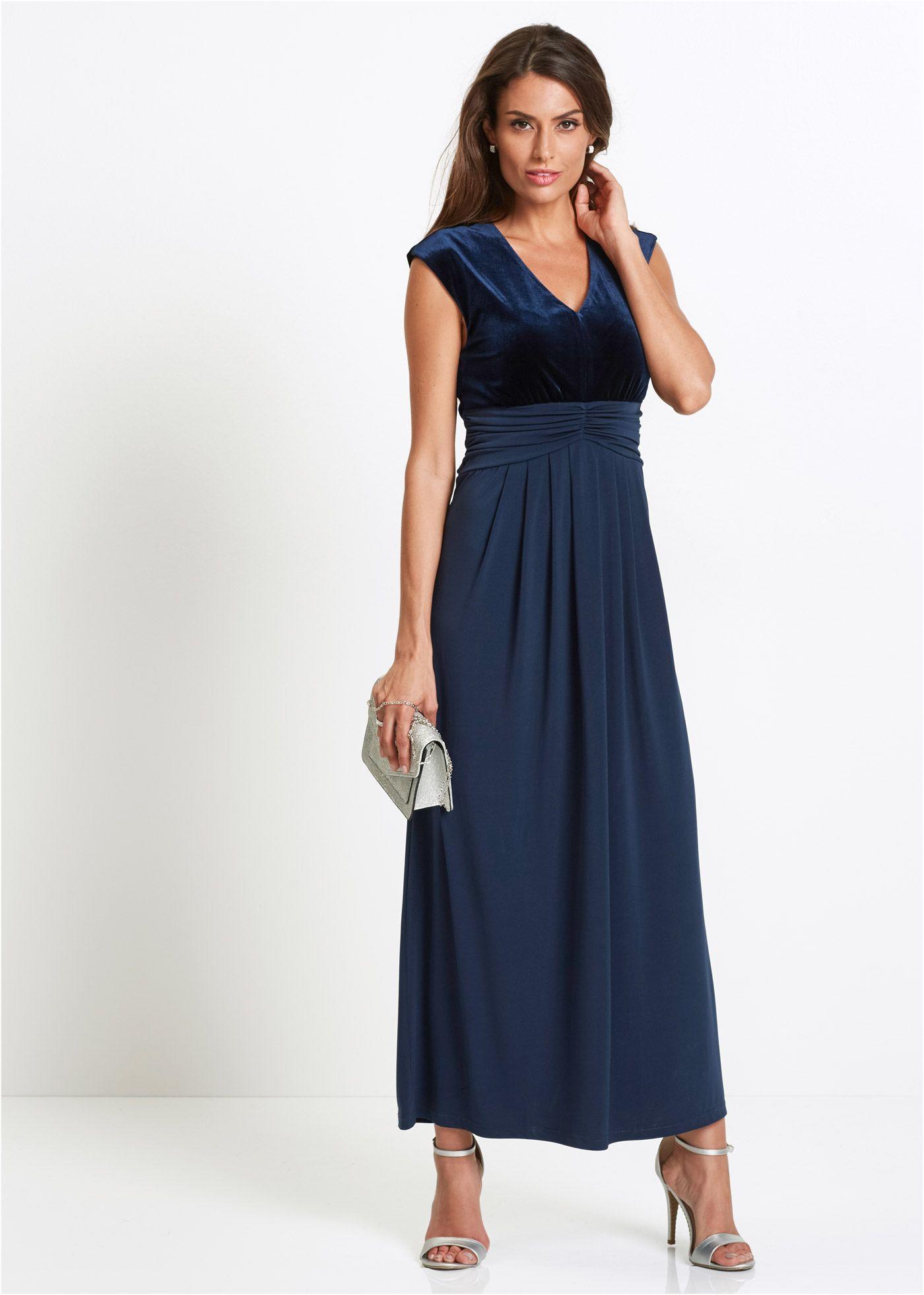 Dieses Premium Abendkleid mit Samt sorgt für einen stilvollen