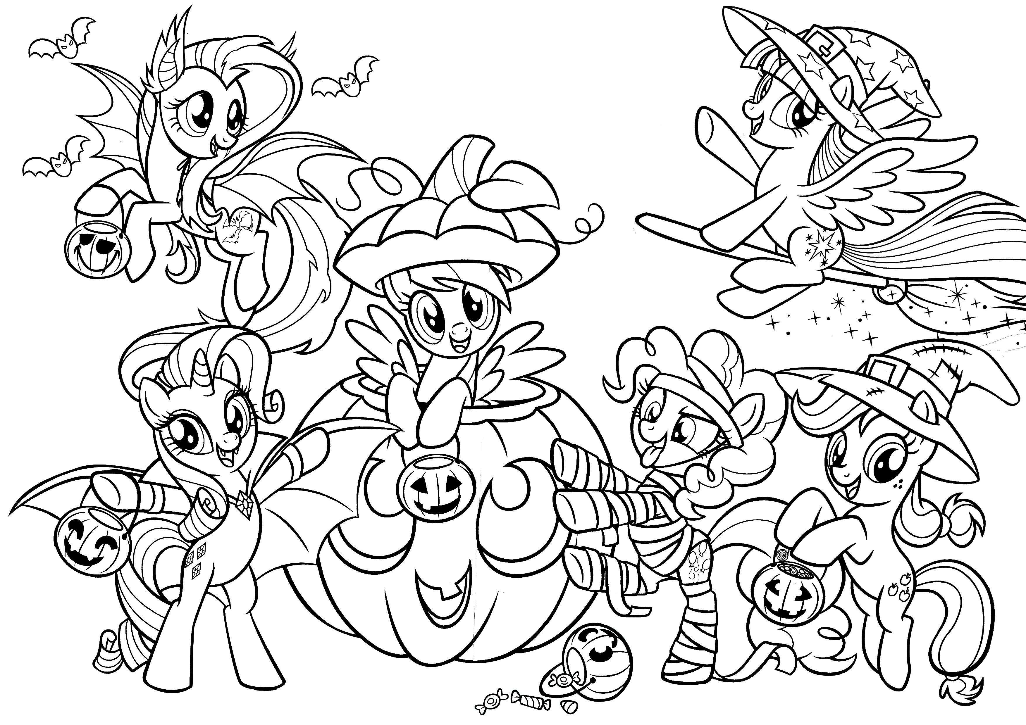 My Little Pony Halloween Colouring Page Halloween Coloring Halloween Coloring Pages Coloring Pages