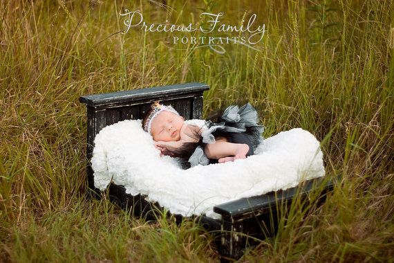 Newborn Photography Photo Prop Bed is Handmade by me using only solid wood!