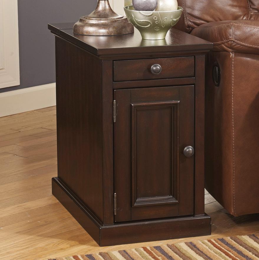 Best Power Str*P Usb Chair Side End Table Dark Brown Chair 400 x 300