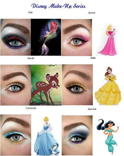 Maquiagem inspirada nas Princesas