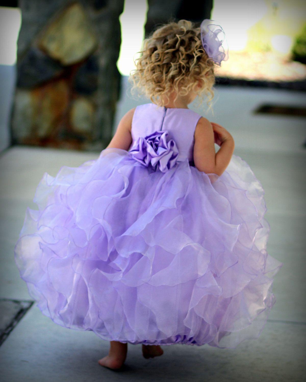 Flower girl dress lavender lilac light purple by DaisiesandDamsels, $247.24