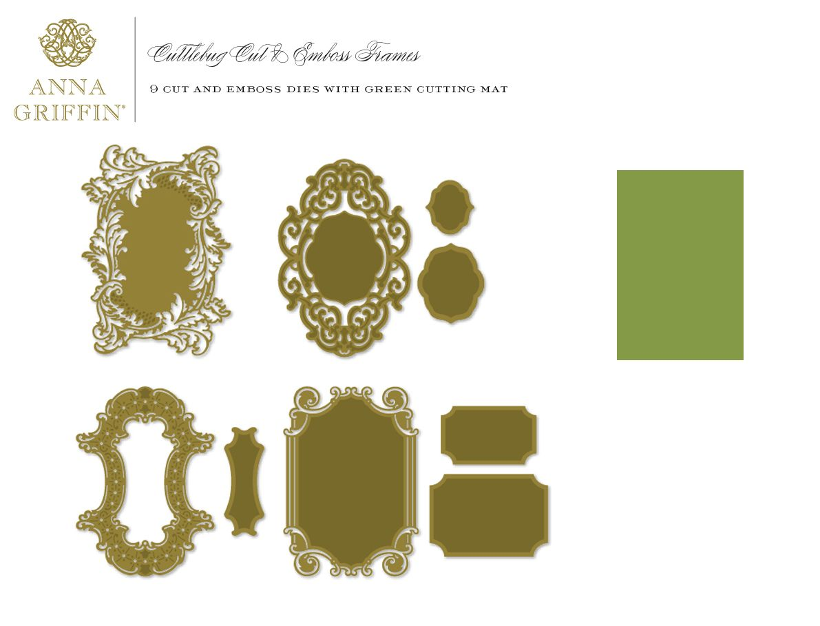 Anna Griffin Radial Border Die Cut and Emboss Ornate