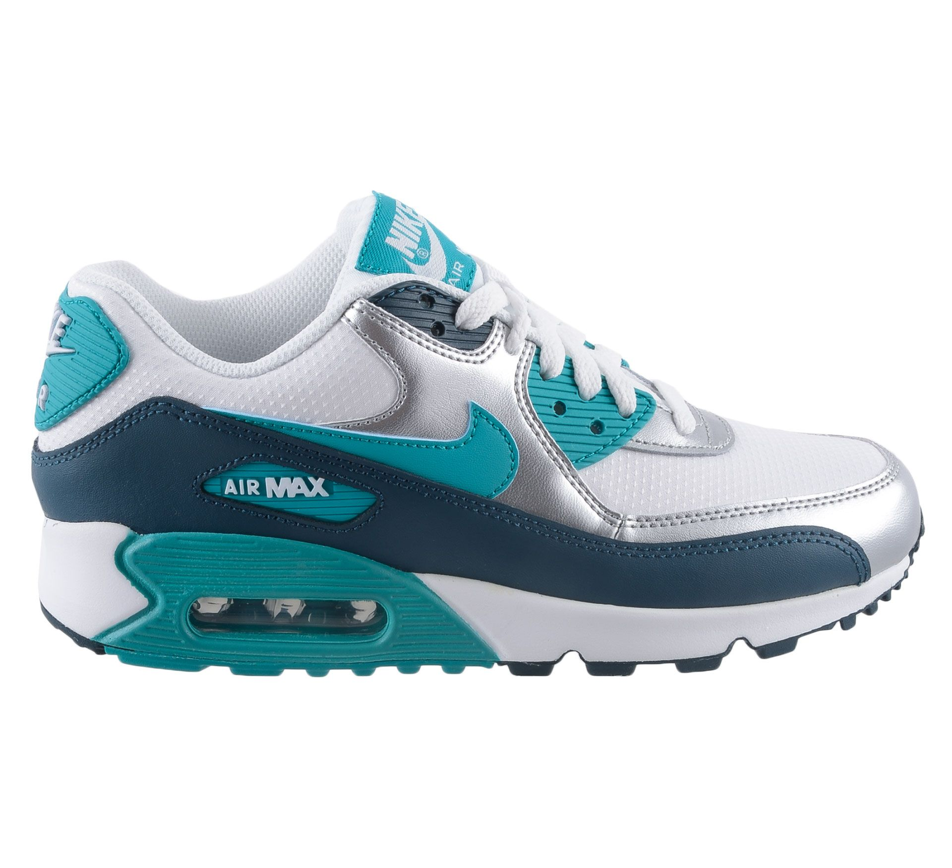 Hippe Nike Air Max 90 Essential Sneakers Dames (wit – zilver ...