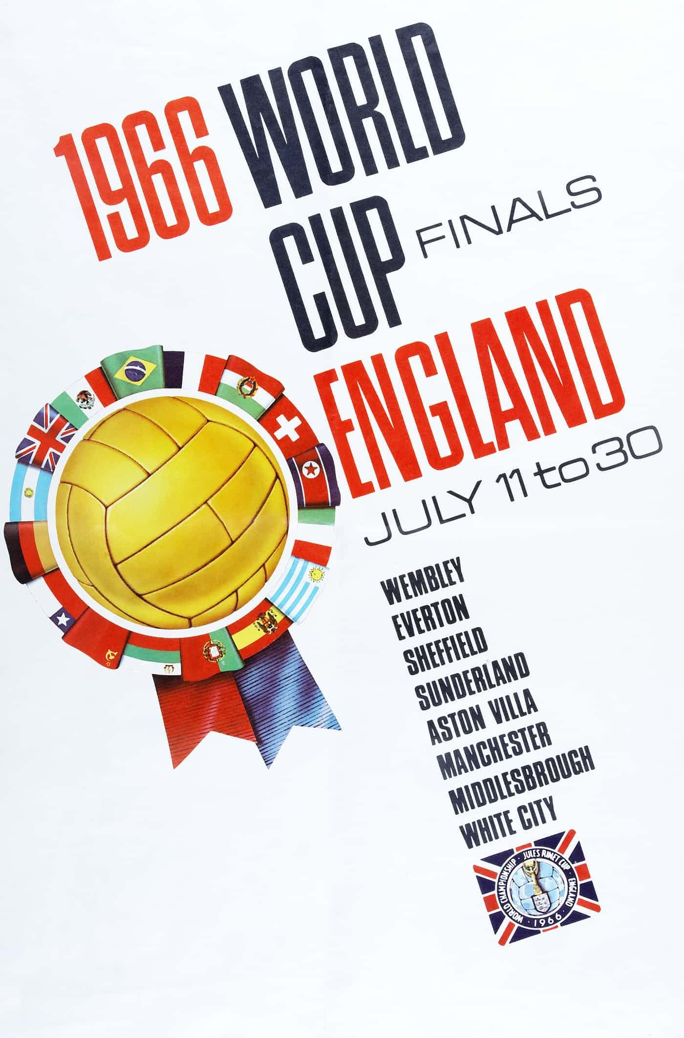 England 1966 Poster 1966 World Cup World Cup Final 1966 World Cup Final