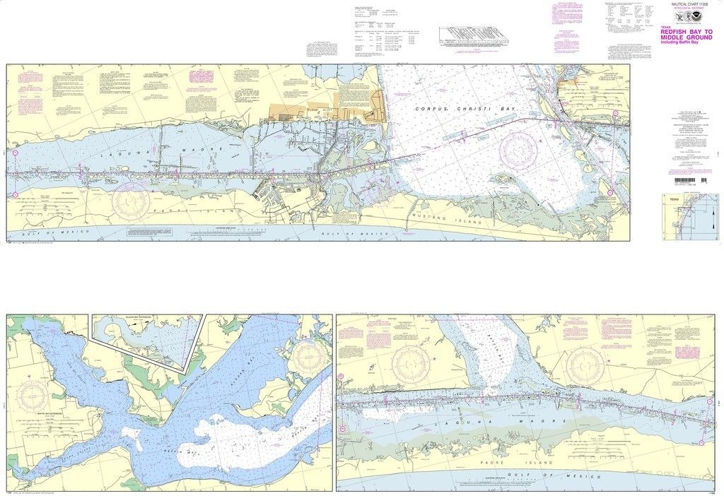 NOAA Nautical Chart 11308: Intracoastal Waterway Redfish Bay to ...
