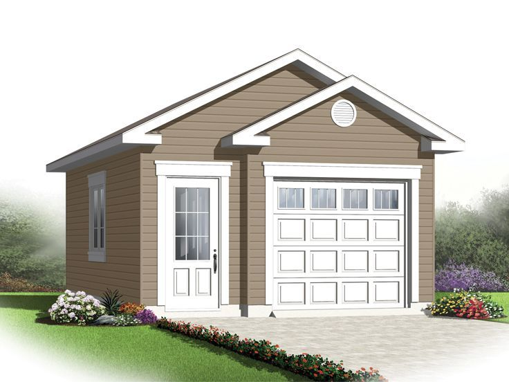 Single Car Garage Plans Click Image Above To View Larger