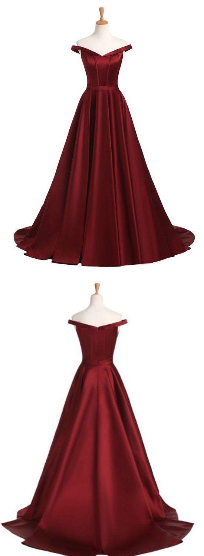 Burgundy v neck long prom dress burgundy evening dress u trendty