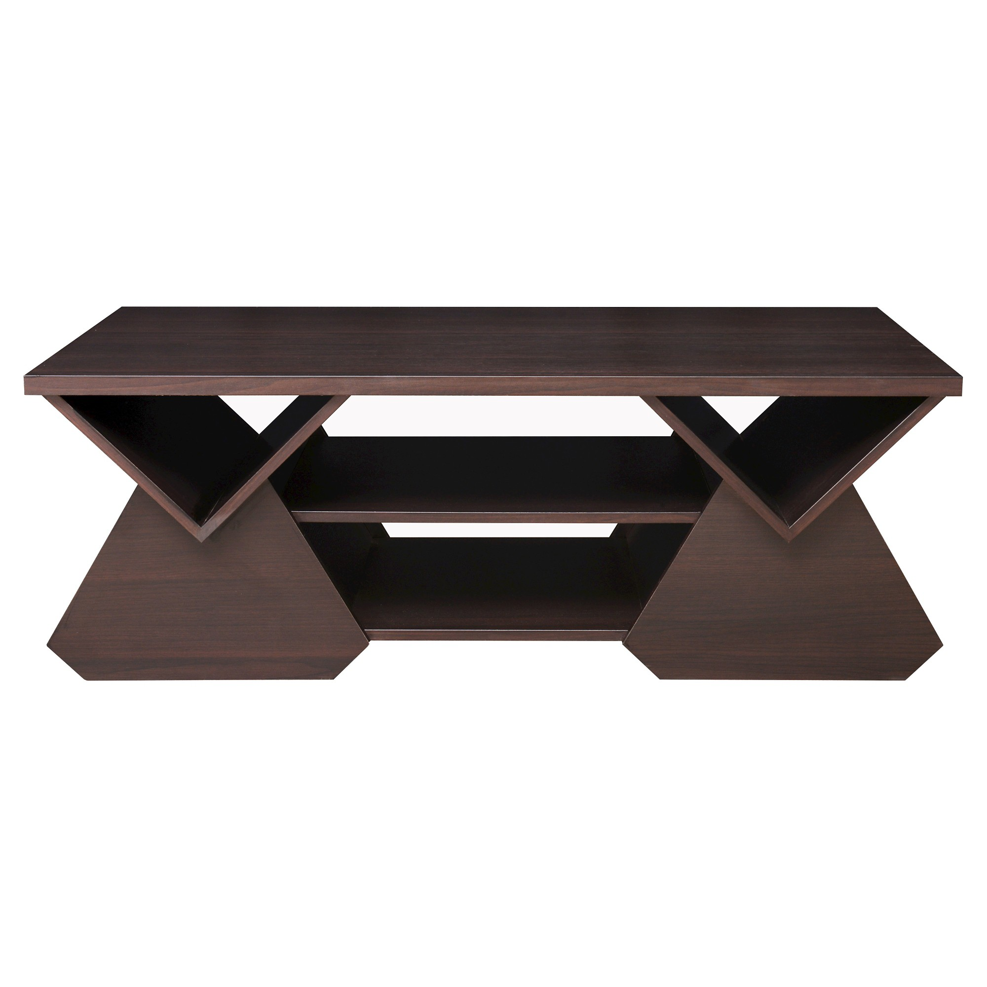 Katy Unique Geometric Open Shelves Coffee Table Espresso Homes Inside Out Geometric Coffee Table Coffee Table Modern Coffee Tables [ 2000 x 2000 Pixel ]