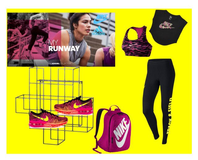 """Nike Legging"" by ellyandeddy-mendo ❤ liked on Polyvore featuring Dot & Bo, adidas and NIKE"