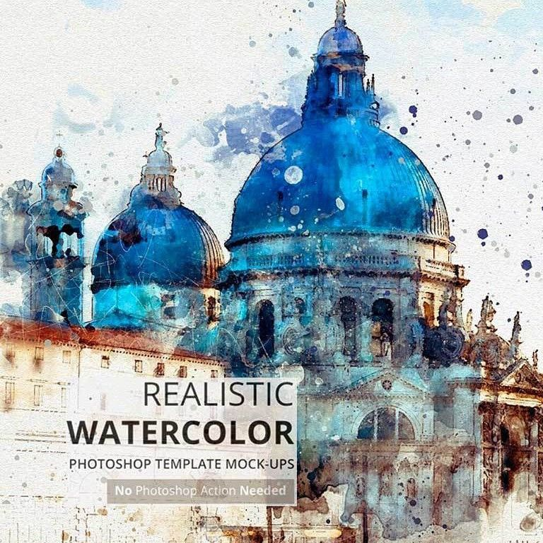Watercolor Photoshop Mock Ups Https Www Divineworks Biz