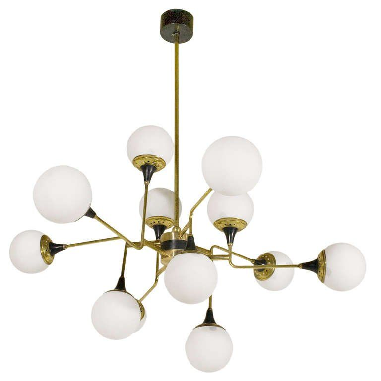 Stilnovo Chandelier Circa 1950 Italy At 1stdibs