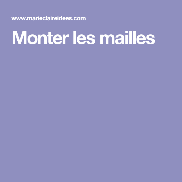 1359256c3589 S initier au tricot   monter les mailles   Tricot crochet, Wool and ...
