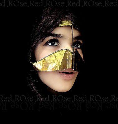 A Gulf Mask Worn To Keep The Sand Out Of The Mouth Resembling A Falcon S Beak Burqa Beautiful Arabian Beauty