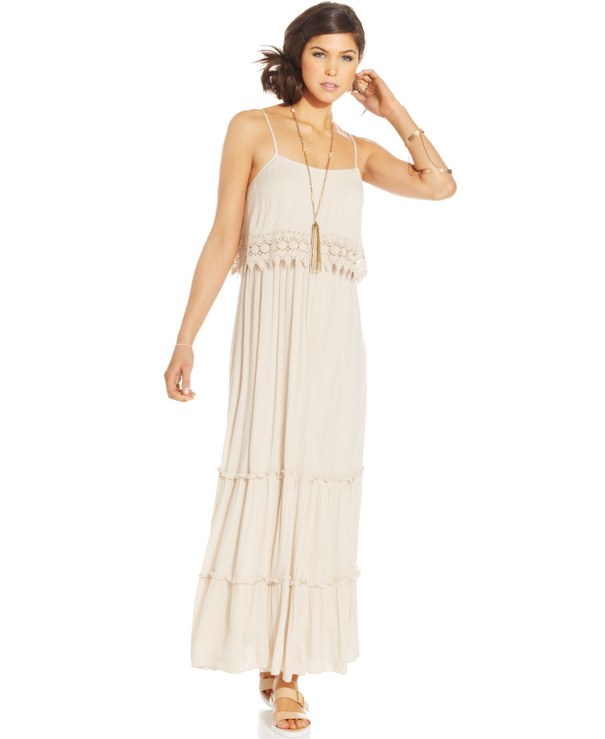American rag popover maxi dress products pinterest american