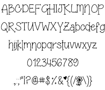 Grandma's Garden Font | Alphabetize It! (fabulous fonts