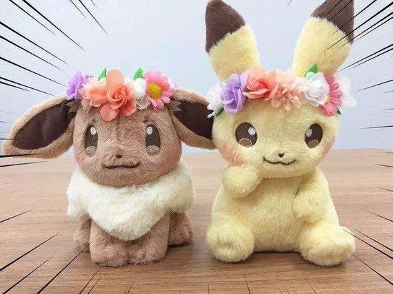 Pokemon Japan Anime Pikachu Eevee Easter Eevee 8 Flower Crown