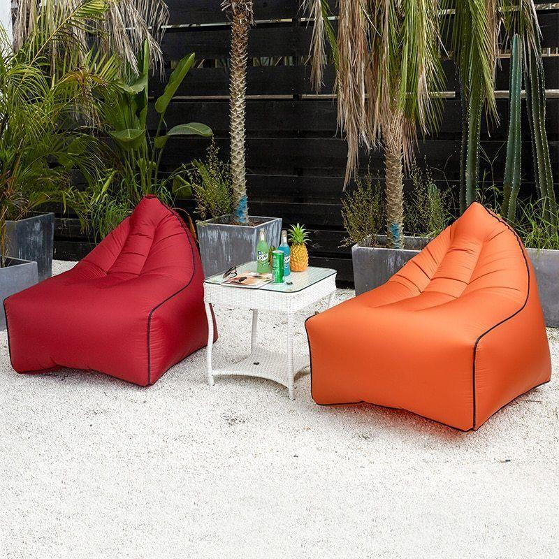 Inflatable Bean Bag Sofa Beach Lounger Inflatable Bean Sofa