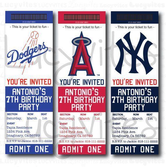 Baseball team ticket invitation baseball baby shower pinterest ticket template free baseball team ticket invitation stopboris Choice Image