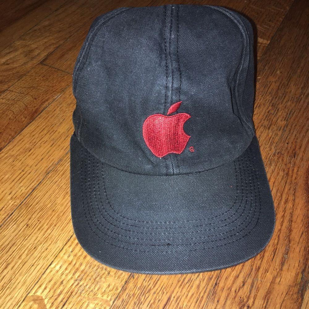 APPLE MAC COMPUTER LOGO BLACK HAT CAP ADULT EMBROIDERED ADJUSTABLE ONE SIZE   HeadshotsbyKCCaps  BaseballCap  apple  applelogo  logos  ebay 2aaa70d5cf1