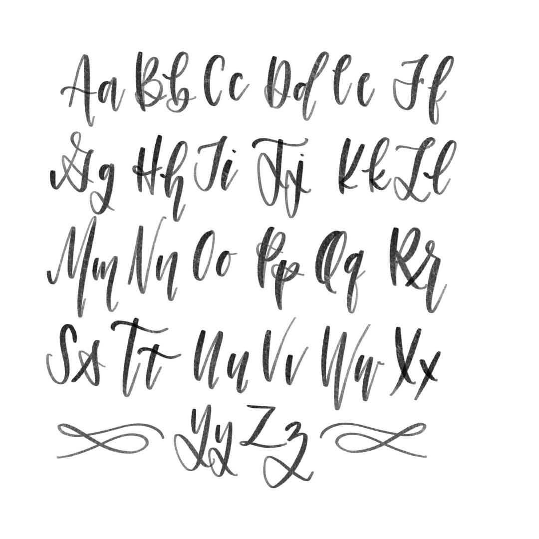 Modern calligraphy alphabet pol designs pinterest