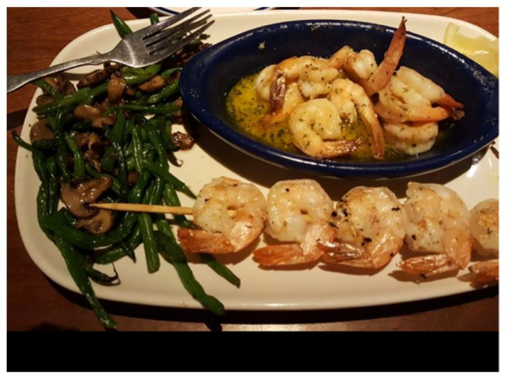Red lobster, grilled shrimp special Eating out low carb