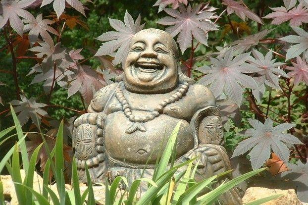 Lachende boeddha inspiraties pinterest boeddha korte bobkapsels en standbeelden - Geloof peinture ...