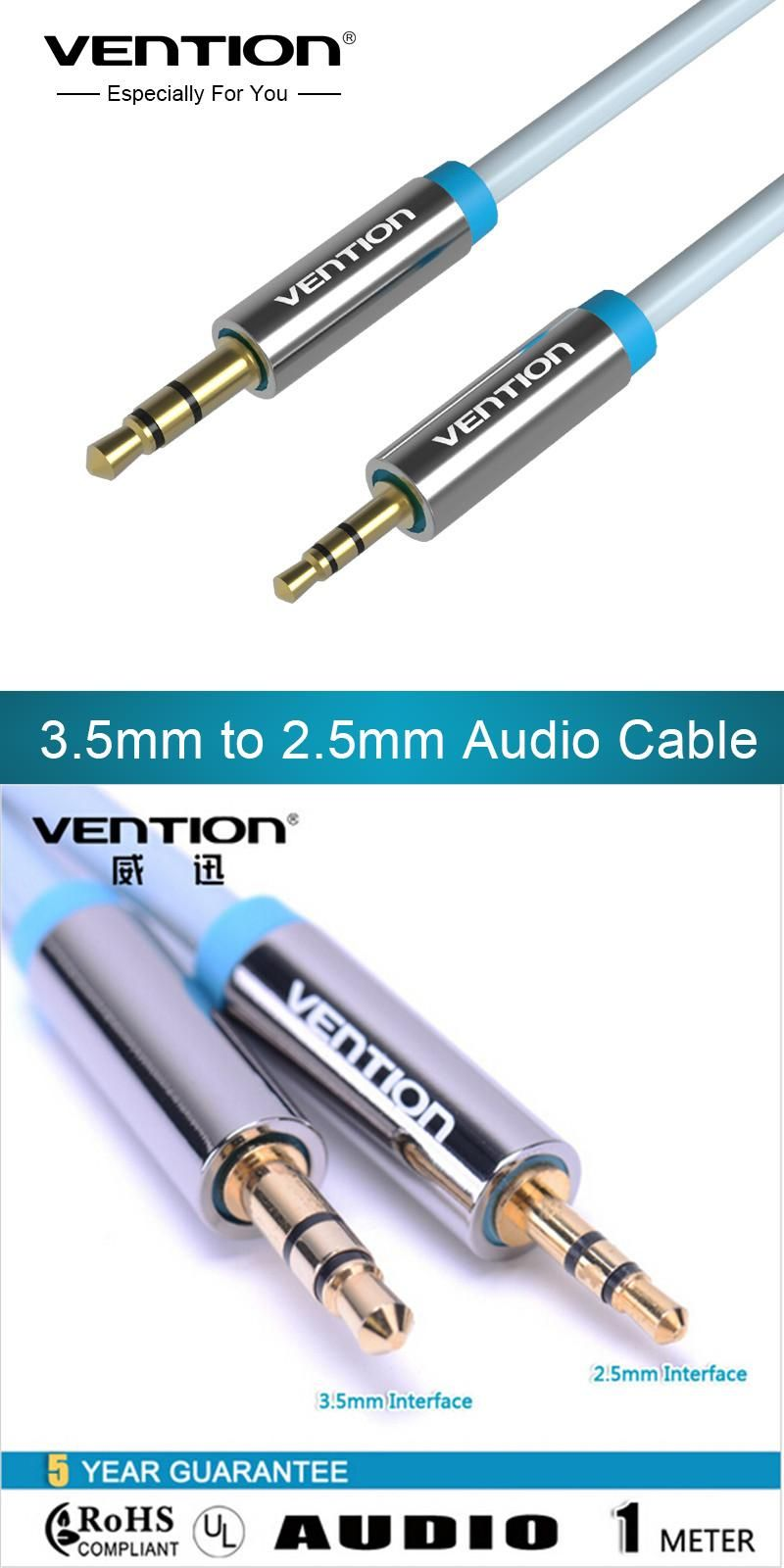 Visit to Buy] Vention Aux Cable Stereo Jack 3.5mm to 2.5mm male to ...