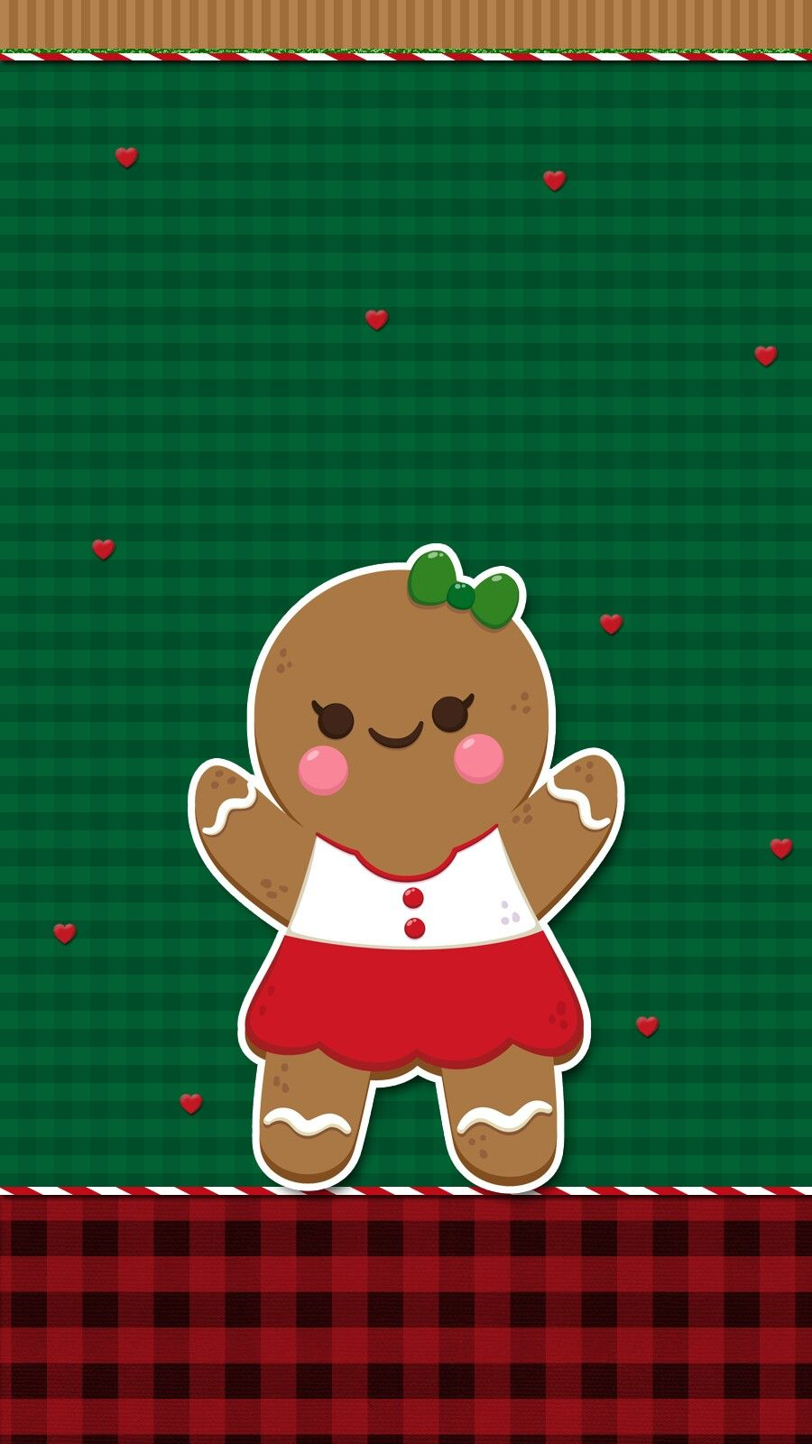 Cute Gingerbread Wallpaper Iphone Android Christmas Cute