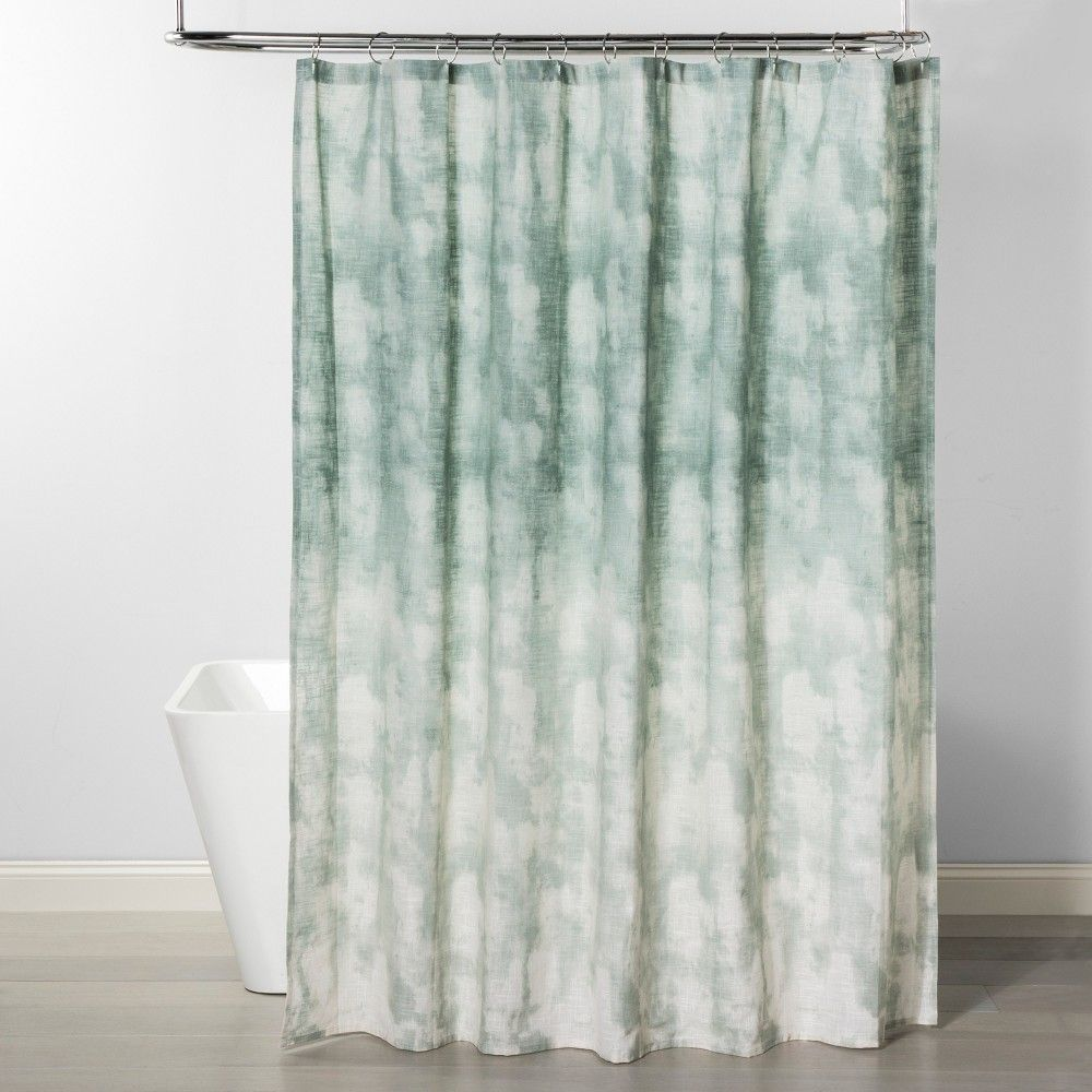 Large Paulownia Wood Bin With Fabric Sides Dark Gray 11 X13 Project 62 Gray Brown Modern Shower Curtains Green Shower Curtains Cool Curtains