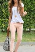 Style by Charlie - gorgeous pastel jeans with simple white t-shirt and fabulous accessories!