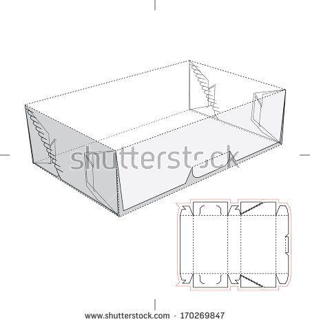 Flat box with blueprint layout box pinterest retail box flat box with blueprint layout malvernweather Choice Image