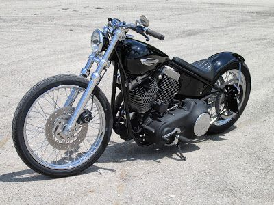 This is the bike Harley Davidson Should have made....A real Dark Custom... tagwords... Harley bobber chopper hot rod rigid hardtail sof...