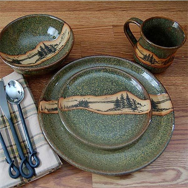 Photo of Rustic Mountain Scene Dinnerware