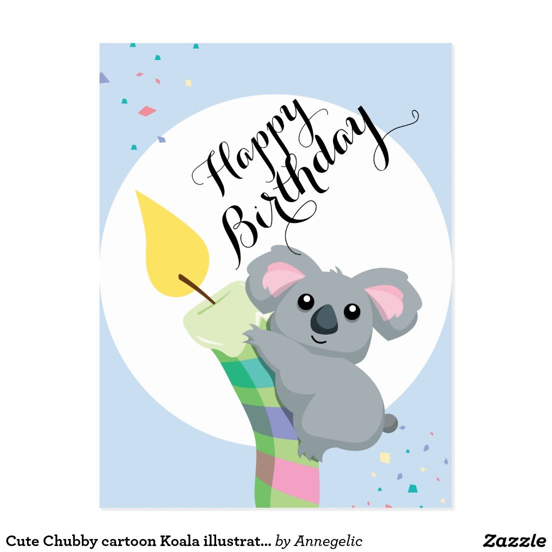 cute chubby cartoon koala illustration birthday postcard garage sale clip art clothes garage sale clip art clothes