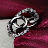2015 Fashion Engagement Couple Ring 10KT Black Gold Rings, Europe and America Exaggerated Daihe Wedding Ring Valentine's Day