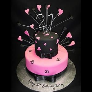 21st birthday cakes for girls Google Search Cakes cookies etc