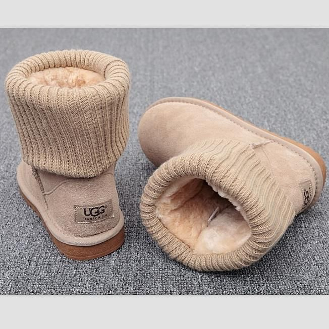 UGG Fashion Plush leather boots boots in tube Boots Beige from Summer11.   shoes   6615bb0a3