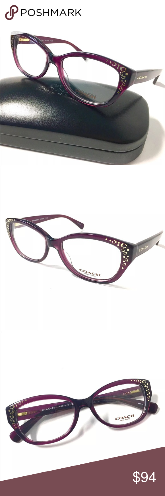 COACH Eyeglasses Purple Frame | Customer support and Delivery